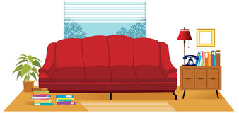 The view of Living room Royalty Free Stock Photos