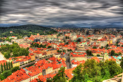 View of Ljubljana from the castle, Slovenia Stock Photography