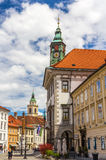 View of Ljubljana city hall, Slovenia Royalty Free Stock Photography