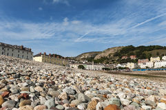 View of LLandudno from the Beach. Traditional british seaside town as seen from the beach Royalty Free Stock Images