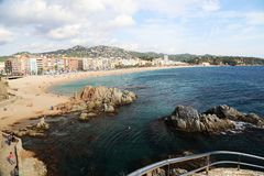 View of LLoret de Mar.Catalonia.Spain stock photo