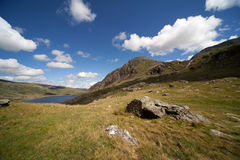 View from llyn Idwal Stock Image