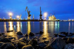 View of the loading in the sea port of St. Petersburg, with nigh Stock Photos