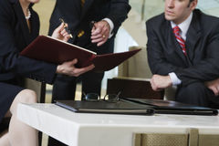 View of lobby meeting of business team. Royalty Free Stock Images