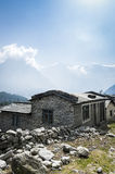 View of local house in Himalayan mountains royalty free stock photos