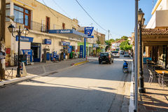 View on local petrol station, located in house of  Vrysos town Stock Image