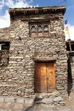 View of local stony building in Manang village Royalty Free Stock Photo