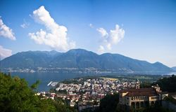 View of Locarno, Switzerland Stock Photography
