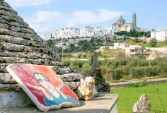 View of Locorotondo in Puglia royalty free stock image