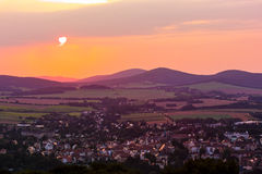 View from Loebauer Berg Stock Photography