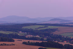 View from Loebauer Berg. In upper Lusatia Royalty Free Stock Photos