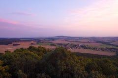 View from Loebauer Berg Stock Photo