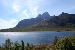 View from Lofoten. Driving around in Lofoten,Norway,you se very beautiful nature Royalty Free Stock Photo