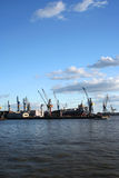 View of logistics at the harbour - serie Royalty Free Stock Image