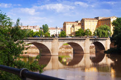 View of Logrono. Puente da Piedra Stock Photos