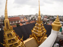 View from Loha Prasat Metal Palace in Wat ratchanadda, Bangkok, Stock Photos
