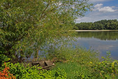 View of the Loire river near langeais, france. Royalty Free Stock Photo