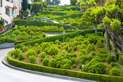 View of Lombard Street. The crookedest street in the world, San Francisco, California Stock Photo