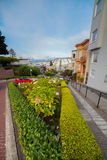 View of Lombard Street, the crookedest street in the world, San Francisco, California Stock Photography