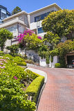 View of Lombard Street, Royalty Free Stock Photos