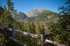 View of Lomnica peak in High Tatra Mountains Stock Photography