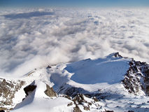 View from the Lomnicky peak during winter Royalty Free Stock Image