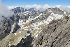 View from Lomnicky Stit in High Tatras Royalty Free Stock Photo