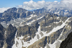 View from Lomnicky Stit in High Tatras Royalty Free Stock Images