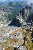 View from Lomnicky Stit in High Tatras Royalty Free Stock Photos