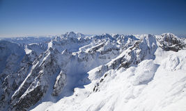View from Lomnicky stit - peak in High Tatras royalty free stock photography
