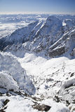 View from Lomnicky stit - peak in High Tatras Royalty Free Stock Image