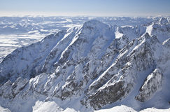 View from Lomnicky stit - peak in High Tatras stock photos