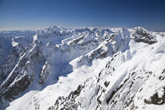 View from Lomnicky stit - peak in High Tatras Stock Photography