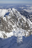 View from Lomnicky stit - peak in High Tatras Royalty Free Stock Photo
