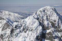View from Lomnicky stit - peak in High Tatras Stock Image