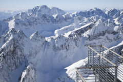 View from Lomnicky stit - peak in High Tatras stock images