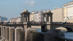 View on The Lomonosov Bridge on The Fontanka River in the summer - St. Petersburg, Russia Royalty Free Stock Image
