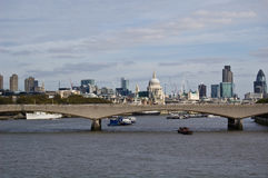 View of London. A view of the City of London and the river Thames Stock Photo