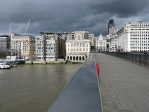 View from London Bridge, England Stock Images