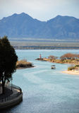 The view from London Bridge in Lake Havasu City Stock Images