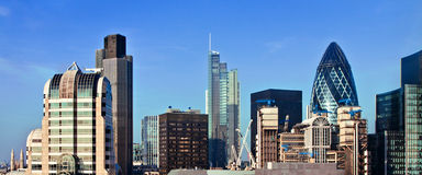 View of London business district Stock Photography
