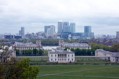 View of london city from Greenwich Stock Photography