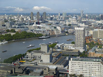 View of London City & River Thames Stock Image