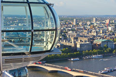 View from the London Eye. London panoramic view from the London Eye Royalty Free Stock Photography