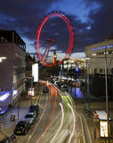 View of The London Eye with Big Ben Royalty Free Stock Images