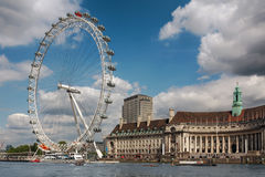 View of the London Eye. Royalty Free Stock Images