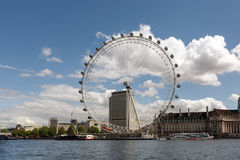 View of the London Eye. Royalty Free Stock Photography