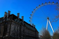 London eye ferris wheel, london, 2013 stock image