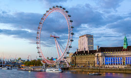 View of the London Eye, a Ferris wheel Royalty Free Stock Photos