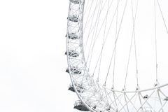 A view of London Eye in London Stock Image